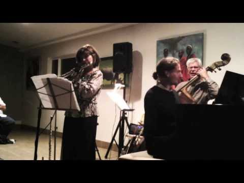 Grant Levin, Lori Bell - flute and Bob Magnusson - bass at the La Jolla Community Center, October 2013