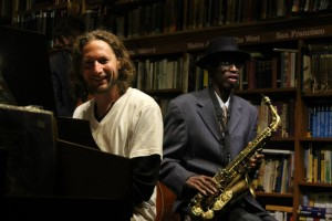 Grant Levin, piano, Terrance Tony, Sax at Bird & Beckett Books & Records, San Francisco