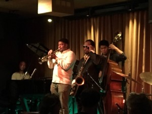 Blackcat in SF with Chris Lowery, trumpet, Eric Wyatt, tenor sax, and Shimpei Ogawa, bass Grant Levin, piano 2016