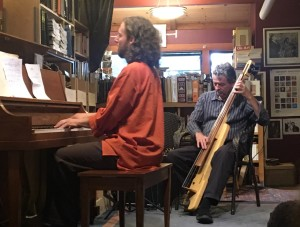 Grant Levin PIano and Greg D'Augelli, soprano sax at Bird and Beckett