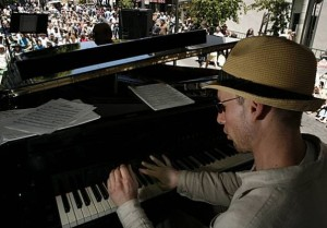 """Crowds throng Fillmore Jazz Festival"" The Chronicle"