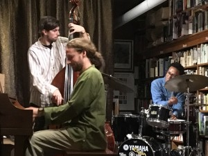 Grant Levin trio at Bird and Beckett, SF with Giulio Cetto, bass and Louis Sweatt, drums