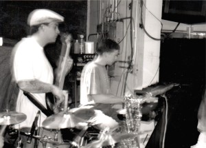 Louie Bertino, Bass  and Grant Levin, Keyboards at The Little Waldorf Saloon, 1999